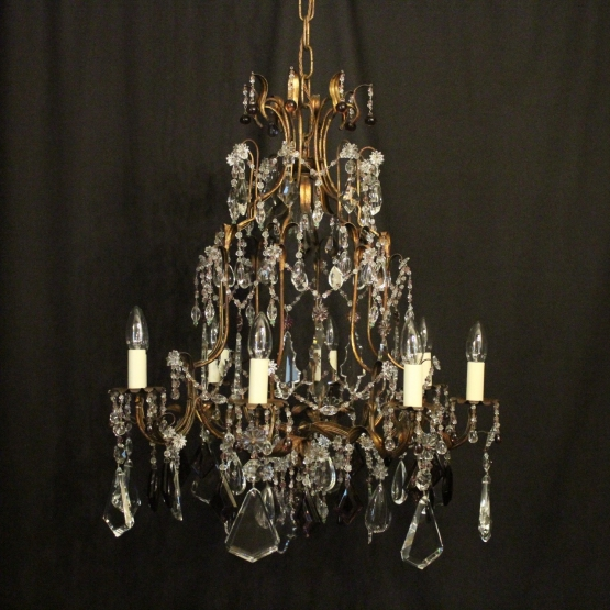 Italian Florentine 8 Light Antique Chandelier