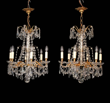Antique Chandelier Pairs