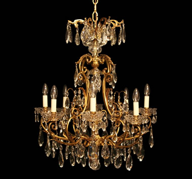 Large With Glass Chandeliers