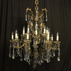 French Gilded 20 Light Antique Chandelier