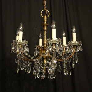 English Bronze 6 Light Antique Chandelier