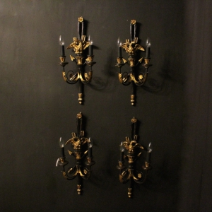 Italian Set Of 4 Gilded Eagle Wall Lights