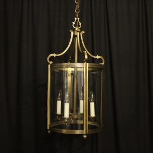 French Gilded Bronze Antique Lantern
