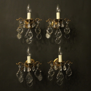 French Set Of 4 Toleware Wall Lights