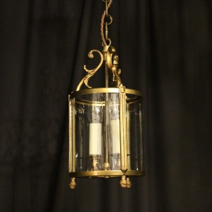 French Small Twin Light Antique Hall Lantern