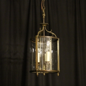 French Triple Light Antique Hall Lantern