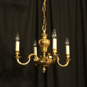 French Bronze 4 Light Antique Chandelier