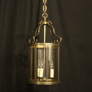 French Gilded Empire Antique Hall Lantern