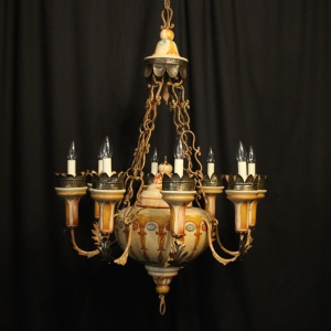 French Gilded Bronze 10 Light Chandelier