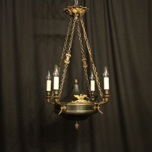 French Gilded Bronze Bag Antique Chandelier