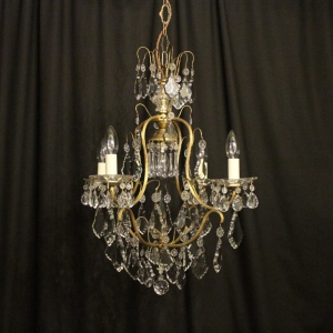 French Birdcage 5 Light Antique Chandelier