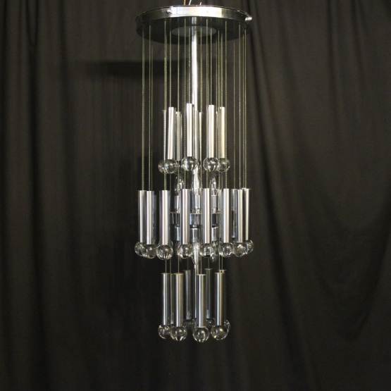 Italian Gaetano Sciolari 9 light chandelier