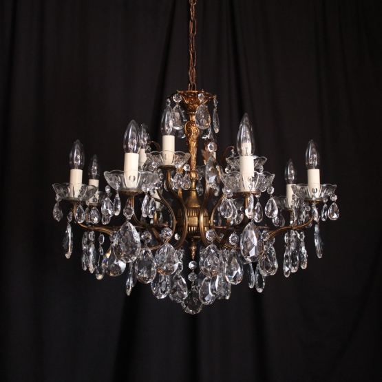 Italian Gilded 12 Light Antique Chandelier