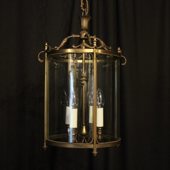 French Gilded Four Light Antique Lantern