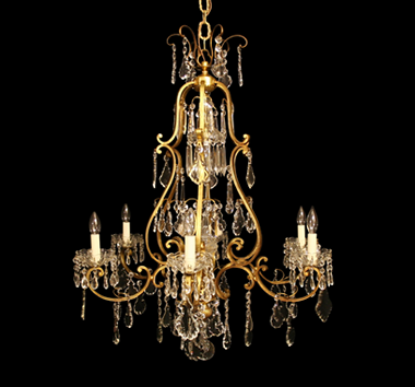 Antique Chandeliers Gilded Antique Chandeliers