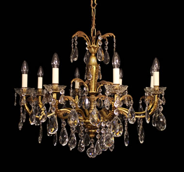 Medium With Glass Chandeliers