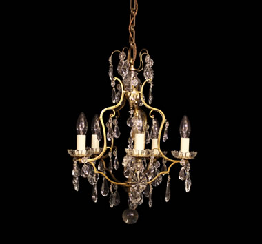 Small With Glass Chandeliers