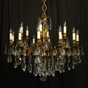 Italian Gilt Bronze 18 Light Antique Chandelier