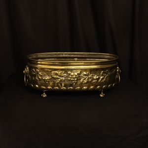 French Brass Decorative Antique Jardiniere