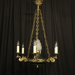 French Empire Six Light Antique Chandelier