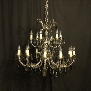Italian Silver Gilded 18 Light Chandelier