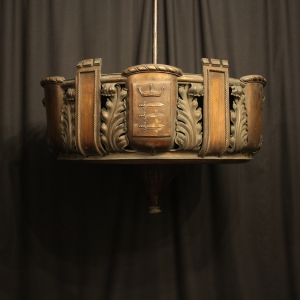 English Copper 8 Light Antique Uplighter