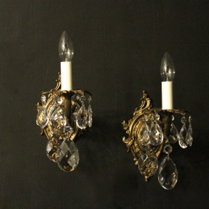 Italian Single Arm Bronze Antique Wall Lights