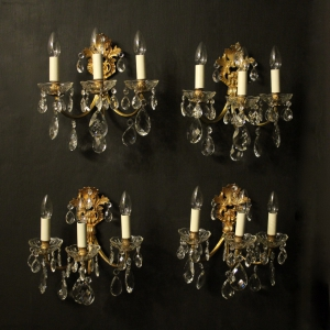French 19th C Pair Of Antique Wall Sconces