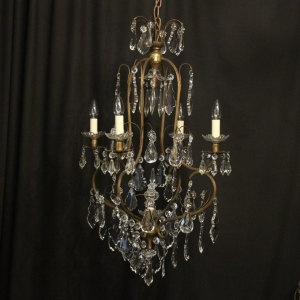 Italian Florentine 6 Light Antique Chandelier