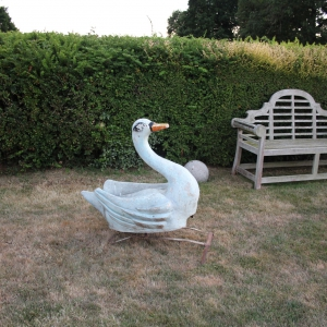 Decorative Fairground Painted Swan