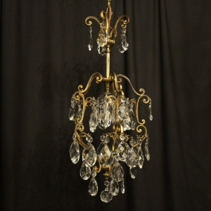 French Birdcage Single Light Antique Chandelier