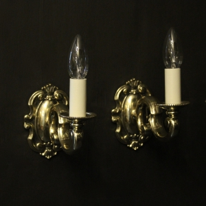 English Pair Of Single Arm Antique Wall Lights