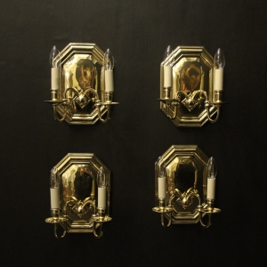 Florentine Pair Of Toleware Wall Sconces