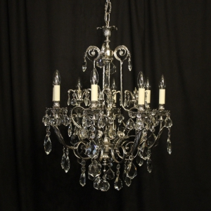 Italian Nickel Plated 8 Light Antique Chandelier