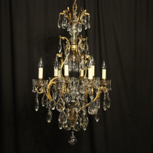 French Birdcage 9 Light Antique Chandelier