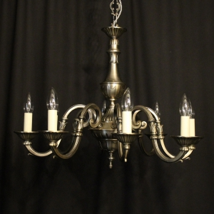 French Silver Gilded 8 Light Chandelier