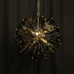 Italian Amber 8 Light Sputnik Chandelier