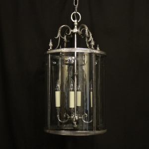 French Silver Gilded Four Light Hall Lantern